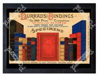 Historic Durrad's Book Bindings, 1889 Advertising Postcard