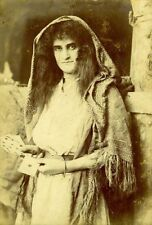 Framed Print - Victorian Gypsy Fortune Teller (Vintage Picture Freak Show Photo)