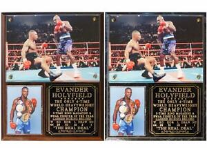 Evander Holyfield 4-Time Heavyweight Champion Photo Plaque