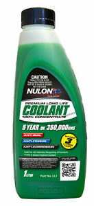Nulon Long Life Green Concentrate Coolant 1L LL1 fits Nissan Bluebird 2.0 (91...