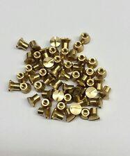 50 Stück Hülsenmutter M3 Messing Bundmutter Linsenkopf Hülsenmuttern Industrie