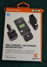 iPhone 5 & 6 Griffin PowerDuo - 10x - Reserve Car/Wall Charger/Backup Battery