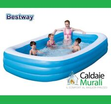 Piscina Bestway Hinchable Rectangular A 3 Anillos CM 183X305X56H Mod. 54009B