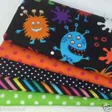 Manic Monsters 5 piece fabric fat quarter bundle 100% cotton for craft/patchwork
