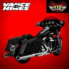 Vance & Hines Chrome Oversized 450 Destroyer Slip-Ons 1995-2016 Harley Touring