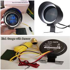 12V/24V Car LCD Digital Blue LED Voltmeter Water Temp Gauge Meter w/Sensor Set