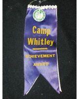 Camp Whitley~Boys Club Of America Intermediate Achiement Award~Button & Ribbon~S