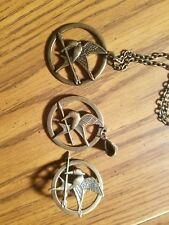 Hunger games necklace pin pendant lot