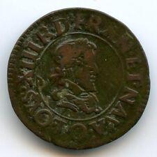 Louis XIII (1610-1643) Doppel Turnose 1625 O Riom selten