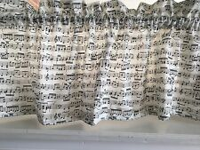 "NEW Sheet Music Notes Song Valance Curtain 40""W x 13""L"