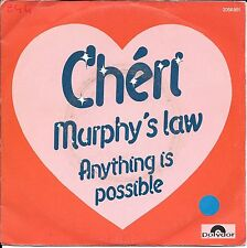 """45 TOURS / 7"""" SINGLE--CHERI--MURPHY'S LAW / ANYTHING IS POSSIBLE--1982"""
