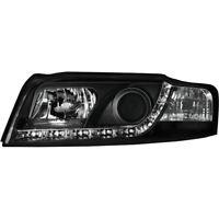 2 x Scheinwerfer für Audi A4 8E LED Tagfahrlicht black / schwarz