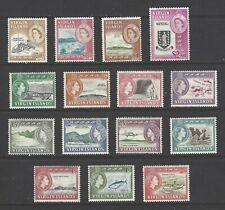 BRITISH VIRGIN ISLANDS, # 144-158, MVLH,  DEFINITIVES, PICTORIALS, Complete Set