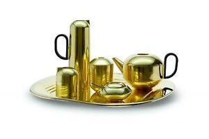 Tom Dixon Brass Tea Set with Tray, Teapot, Sugar Dish, Milk & Water Jug & Caddy