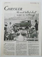 1933 Chrysler car the most talked-about name and motoring vintage ad
