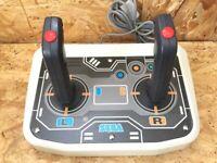 SEGA Saturn Twin Stick Arcade Controller & Virtual On Game SS Japan F/S
