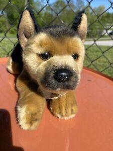 "German Shepherd Puppy Dog Stuffed Animal Plush 12"" Yomiko Classics with tag"