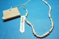 J.Crew Pearl CZ Cluster And Bead Necklace Jewelry