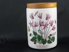 "Vintage Portmeirion Botanic Garden Lidded Jar 5.5"" Cyclamen  Made England   P188"