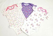 Baby Girls Gerber Set of 3 Bodysuits size Newborn