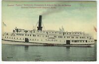 Maryland Talbot Steamer UNUSED POSTCARD