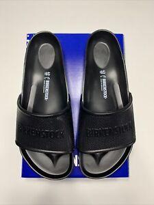 New With Box Birkenstock Men's Barbados EVA Sandal, Black, 43 R EU (Men US 10)