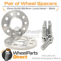 Wheel Spacers (2) & Bolts 10mm for Audi A4 [B8] 08-15 On Original Wheels