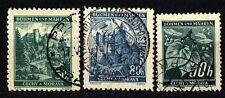 GERMANY - GERMANIA - BOEMIA E MORAVIA - 1940 - Ramo di tiglio (frutti). Paesaggi