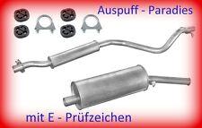 Abgasanlage Auspuff Schalldämpfer VW Golf I 1.6  & 1.8 Cabriolét (Typ 155) + Kit