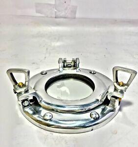 """Nautical Vintage porthole Handmade Collectible Marine Ship 6"""" Aluminum Porthole"""
