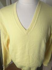 J. McLaughlin V-Neck Cotton/Rayon Westbury Sweater Yellow Size M Golf  New Tags