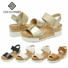 DREAM PAIRS Women's Ankle Strap Platform Sandals Open Toe Wedge Sandals Shoes