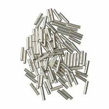 100Pcs 22-18 Ga.non-insulated seamless butt wire connector uninsulated sliver