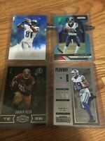 Lot of serial numbered football cards (4 cards)