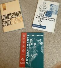 Commissioner Service Manual Institutional Rep Troop Advancement Boy Scouts 1962
