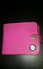 Lacoste Billfold Wallet Leather and satin purple violet unisex wallet