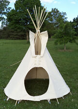 6 foot dia. tipi, teepee, tepee - WITH POLES natural wood poles: Outdoor/Indoor