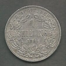 SOUTH AFRICA,  1894,  1 SHILLING,  SILVER,  KM#5,  VERY FINE-EXTRA FINE