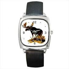Bull Moose Animal Art Wrist Watch Ladies Mens Unisex Wristwatch New