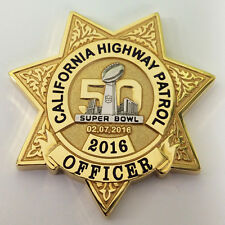 CALIFORNIA HIGHWAY PATROL SUPER BOWL CHALLENGE COIN (CHP LAPD FBI NYPD