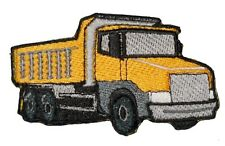 Iron on patch Dump Truck Construction Equipment  applique Heavy Machinery Yellow