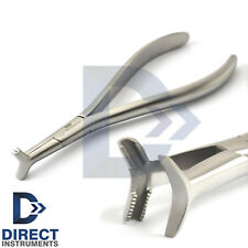 Dental Slim Hammer Head Plier Serrated Tip NITI Cinch Back Wire Forming Pliers