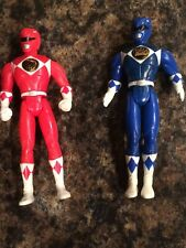 "Mighty Morphing Power Rangers Red and Blue 4""Action Figures"