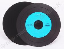 Vinyl CD-R Carbon, 10 Stück, 700 MB zum archivieren, Labelfarbe: blau