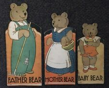"Original 1932 Rare Set by Agnes York Durick~""All About Father Mother Baby Bear""~"