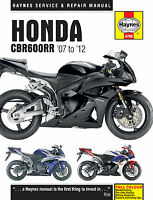 Honda CBR600RR 2007 - 2012 Haynes Owners Workshop Repair Manual 4795 MOTORCYCLE