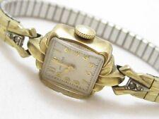 Vintage Old Ladies 10K Gold Filled Lancaster Hamilton Watch Wristwatch Band*D794