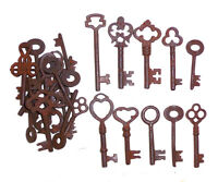 Antique Skeleton Keys  Lot of 200 Steampunk