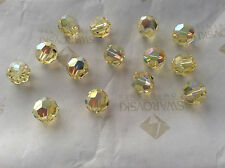 24 Swarovski #5000 8mm Crystal Jonquil AB Faceted Round Beads