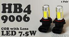 2 x HB4 9006 7.5W LED COB Lens Headlight Xenon Super White Fog Lamp Globes Bulbs